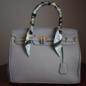 Teddy Blake Inspired Grey Handbag PU Leather